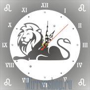 Настенные зеркальные часы Знак Зодиака Лев