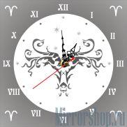 Настенные зеркальные часы Знак Зодиака Овен