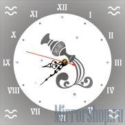 Настенные зеркальные часы Знак Зодиака Водолей