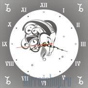 Настенные зеркальные часы Знак Зодиака Козерог