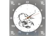 Настенные зеркальные часы Знак Зодиака Скорпион