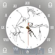 Настенные зеркальные часы Знак Зодиака Весы