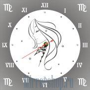 Настенные зеркальные часы Знак Зодиака Дева