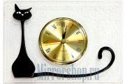 Настольные часы из фьюзинга Кэт