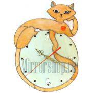 Настенные витражные часы Гламур 1
