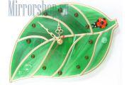 Настенные часы Зеленый лист
