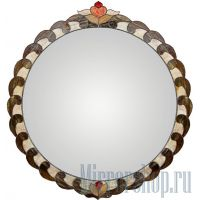 Зеркало круг Трэсэ в раме из витража Тиффани