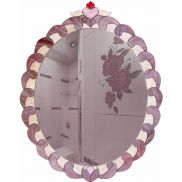 Зеркало овальное Трэсэ с витражом Тиффани 57 х 73 см