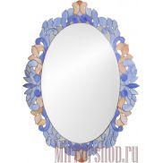 Зеркало Флер в витражной раме 92x66 см